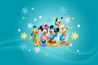 Mickey's Christmas Band Background for Android, iPhone and iPad