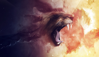 Lion Painting sfondi gratuiti per cellulari Android, iPhone, iPad e desktop