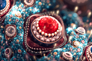 Gem and Jewellery Background for HTC Desire HD
