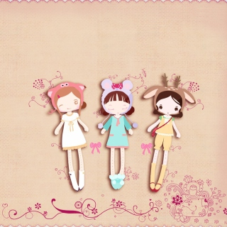 Cherished Friends Dolls sfondi gratuiti per 1024x1024