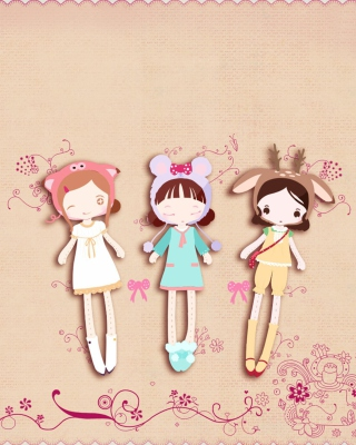 Free Cherished Friends Dolls Picture for HTC Titan