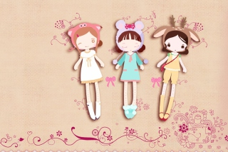 Cherished Friends Dolls Wallpaper for Android, iPhone and iPad