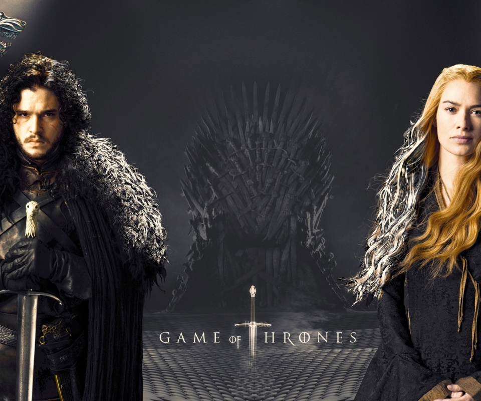 Game Of Thrones actors Jon Snow and Cersei Lannister wallpaper 960x800
