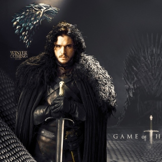 Kostenloses Game Of Thrones actors Jon Snow and Cersei Lannister Wallpaper für iPad 2