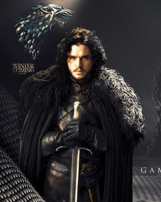 Game Of Thrones actors Jon Snow and Cersei Lannister Wallpaper for Nokia Asha 306