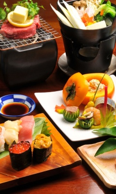 Japanese cuisine wallpaper 240x400