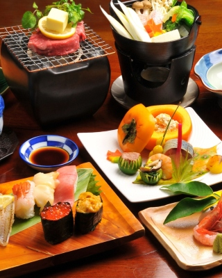 Japanese cuisine Background for Nokia C1-01