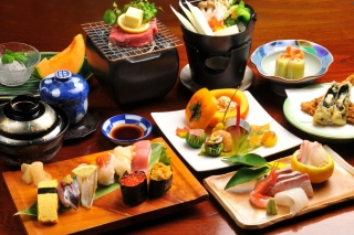 Japanese cuisine Background for Android, iPhone and iPad