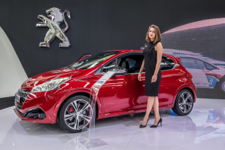 Peugeot Girl Picture for Android, iPhone and iPad