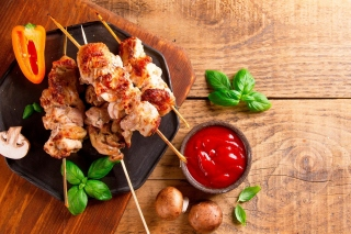 Barbecue Meat Background for Android, iPhone and iPad