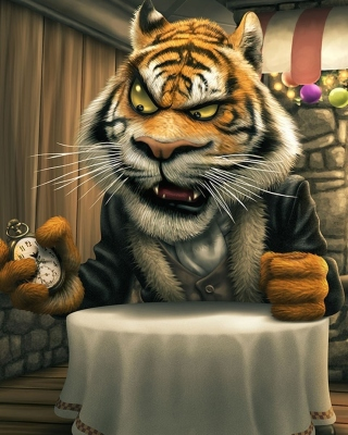 Bunnies and Tigers Funny sfondi gratuiti per iPhone 4S