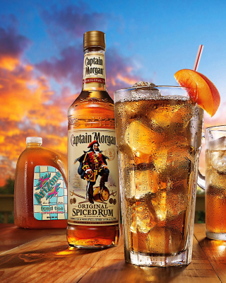 Captain Morgan Rum in Cuba Libre Background for Nokia Asha 311