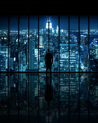 Gotham City Background for Nokia Asha 306