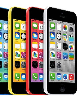 Apple iPhone 5c iOS 7 sfondi gratuiti per Nokia Asha 310