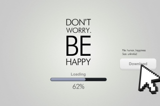 Don't Worry Be Happy Quote - Obrázkek zdarma pro HTC Desire HD