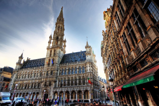 Brussels Town Hall Background for Android, iPhone and iPad