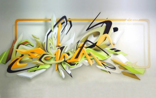 Graffiti: Daim 3D Wallpaper for Android, iPhone and iPad