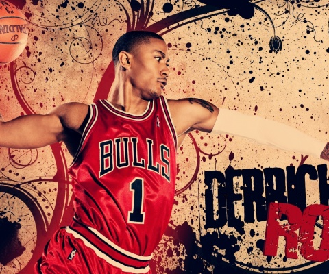 Screenshot №1 pro téma Derrick Rose in Chicago Bulls 480x400
