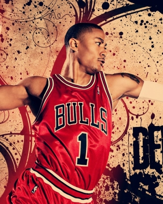 Derrick Rose in Chicago Bulls sfondi gratuiti per Nokia C-5 5MP