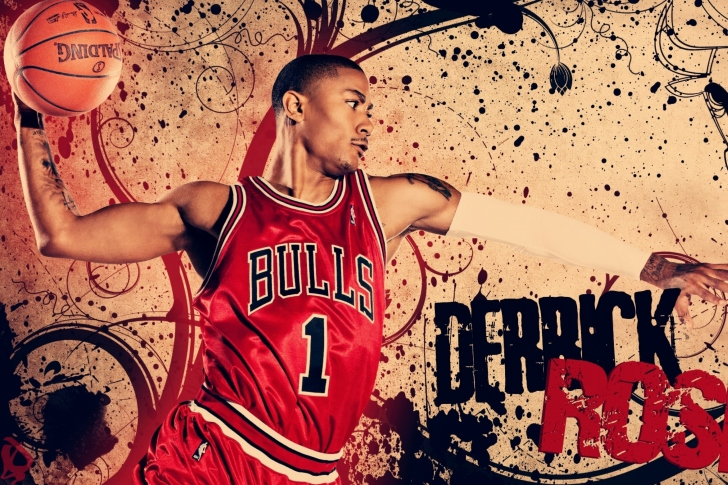 Derrick Rose in Chicago Bulls wallpaper