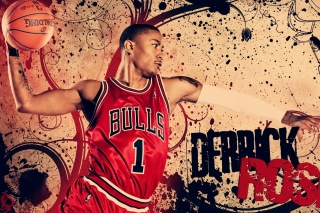 Derrick Rose in Chicago Bulls Background for Android, iPhone and iPad