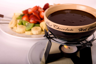 Fondue Cup of Hot Chocolate Wallpaper for Android, iPhone and iPad