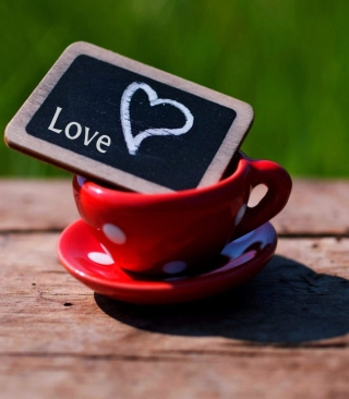 Mug with Heart Background for Nokia C1-01