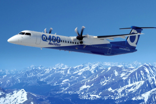 Bombardier Dash 8 Q400 NextGen sfondi gratuiti per cellulari Android, iPhone, iPad e desktop