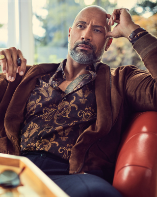 Dwayne Johnson The Rock Instyle Wallpaper for 640x1136