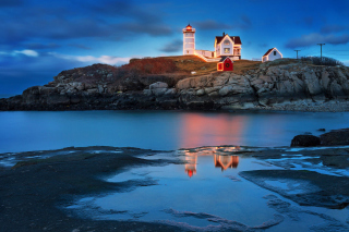 Lighthouse Night Light Wallpaper for Android, iPhone and iPad