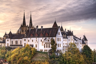 Neuchatel, Switzerland Castle sfondi gratuiti per cellulari Android, iPhone, iPad e desktop