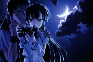 Anime Girl With Vintage Photo Camera - Fondos de pantalla gratis