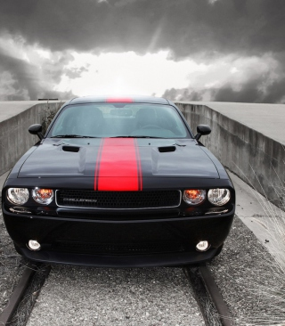 Dodge Challenger Front View Wallpaper for iPhone 5
