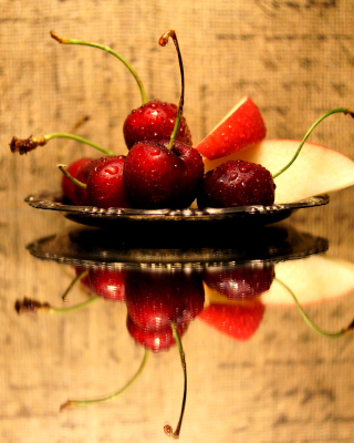 Cherries Acrylic Still Life Background for iPhone 6 Plus