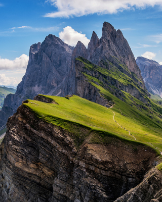 Parco Naturale Puez Odle Dolomites South Tyrol in Italy Wallpaper for 360x640