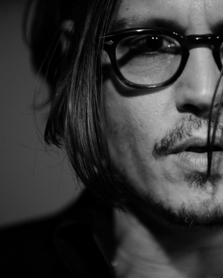 Johnny Depp Black And White Portrait sfondi gratuiti per Nokia C2-02