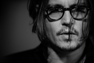 Johnny Depp Black And White Portrait - Obrázkek zdarma