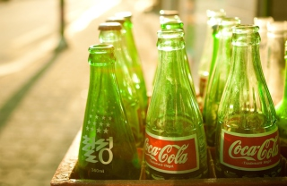 Coca Cola Bottles Background for Android, iPhone and iPad