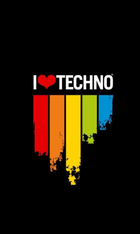 I Love Techno wallpaper 480x800