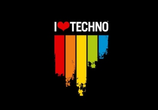 I Love Techno Picture for Android, iPhone and iPad