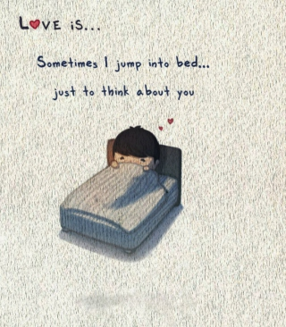 Kostenloses Love Is Jump To Bed Wallpaper für 352x416