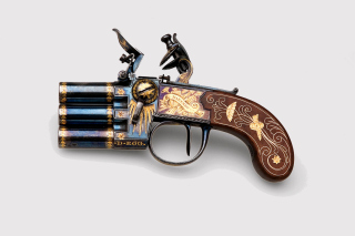 Napoleons Emperor three chamber Pistol Marengo Wallpaper for Android, iPhone and iPad