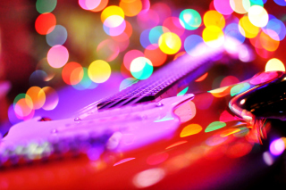 Free Bokeh Guitar Picture for Android, iPhone and iPad