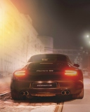 Black Porsche Carrera At Night wallpaper 128x160