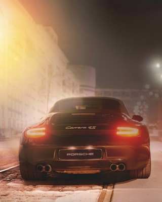 Black Porsche Carrera At Night papel de parede para celular para 750x1334