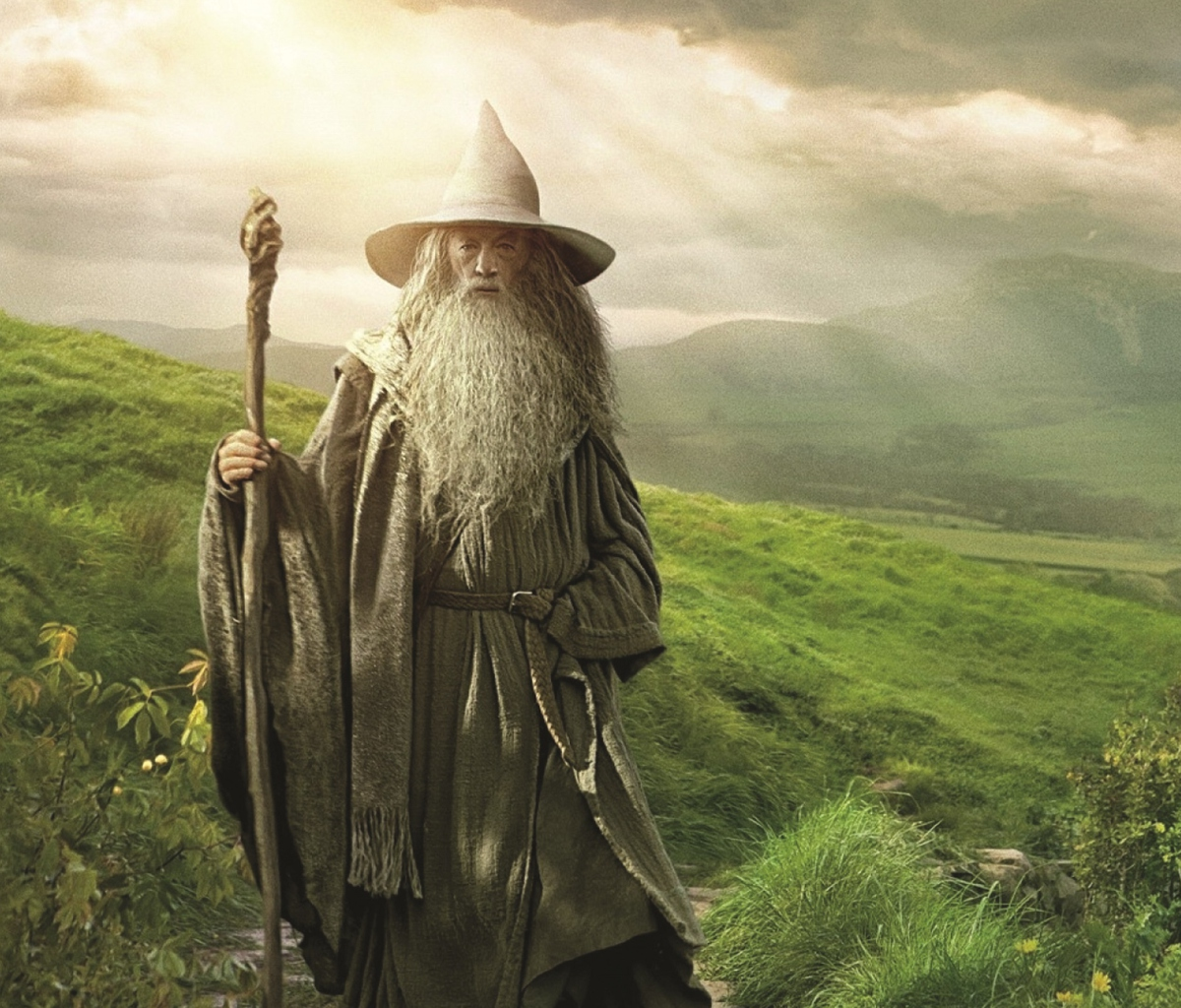 Das Gandalf - Lord of the Rings Tolkien Wallpaper 1200x1024