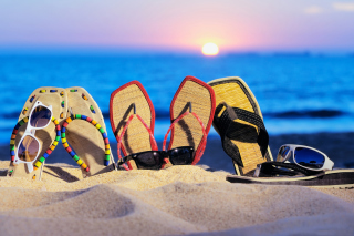 Beach Slippers Picture for Android, iPhone and iPad