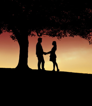 Romantic Silhouettes Background for HTC Titan