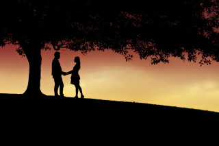 Romantic Silhouettes Background for 1400x1050