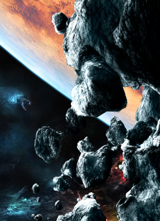 Asteroids Picture for Nokia Asha 306